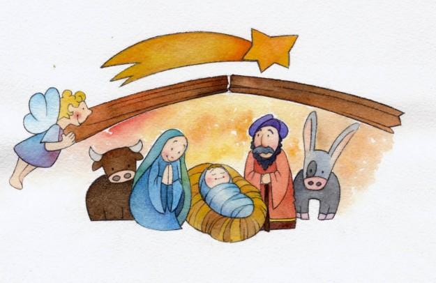 Borgo dei bambini il gennaio a luco presepe vivente e